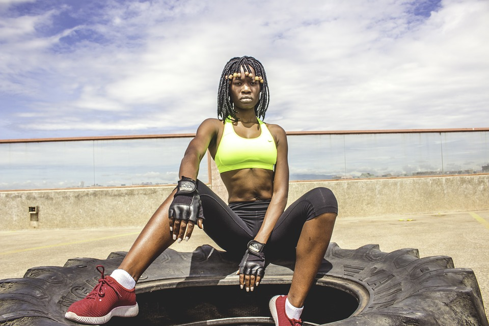 a strong woman with confidence due to her fitness