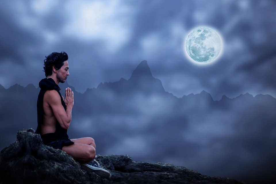 mental health your way to fitness, a picture of a man meditating